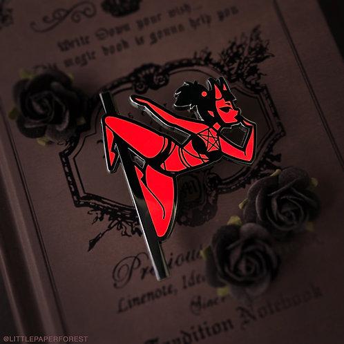 Dare Devil Pole Dancing Enamel Pin