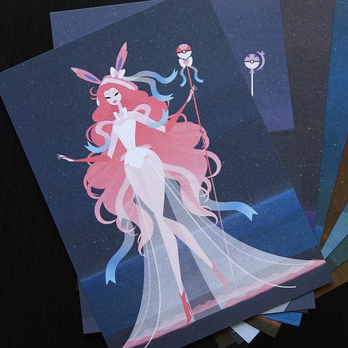 Eeveelution Goddesses - Postcard Set