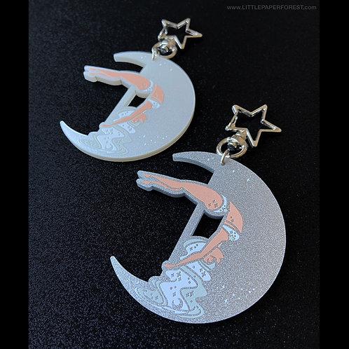 Crescent Moon (Silver) Acrylic Charm