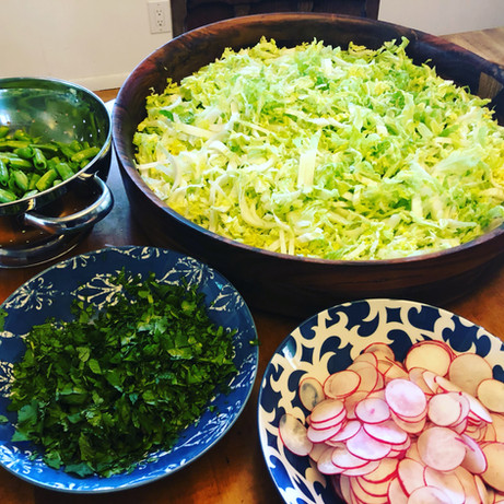 Thai Salad in the making