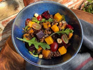 Fall Roasted Beet and Lentil Salad