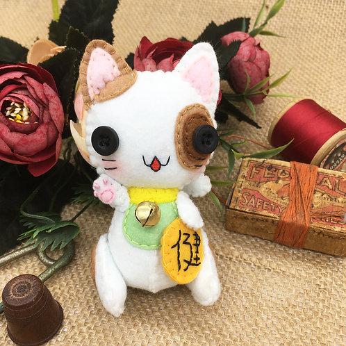 Calico Lucky Cat ~ Small