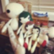 All sizes of our magical handmade felt dolls