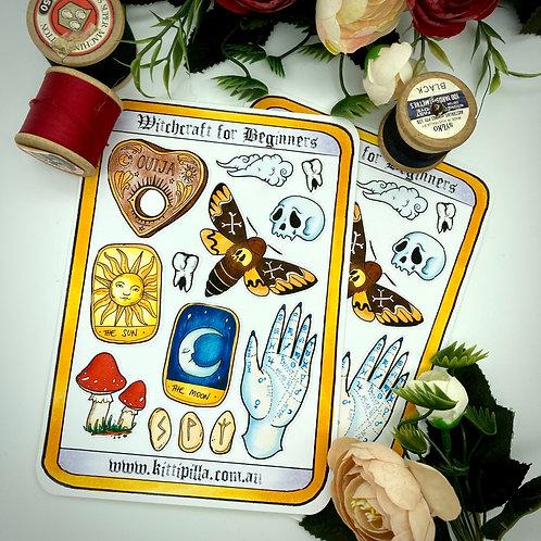 Witchcraft for Beginners ~Sticker Sheet