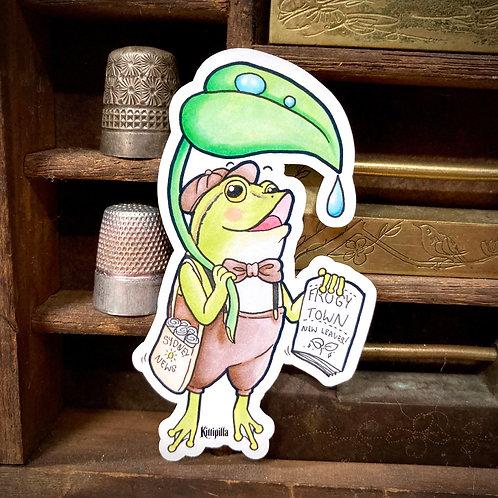 Paper Boy'Lil Green Sticker