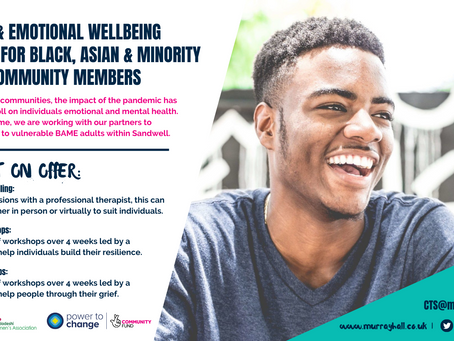 Mental Health & Emotional Well-being Support For Black, Asian & Minority Ethnic Community Members