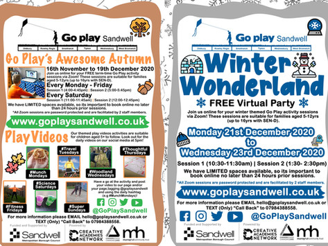 Go Play Sandwell's Awesome Autumn & Winter!