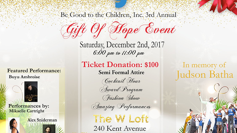 3rd Annual Gift of Hope Event