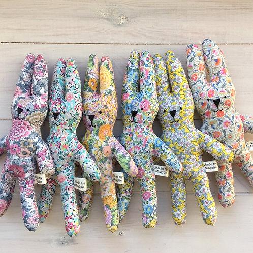 Six Liberty Print Lavender Bunnies