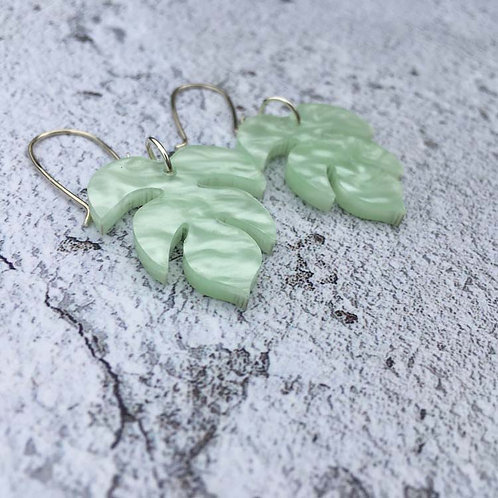 Mint perspex earrings