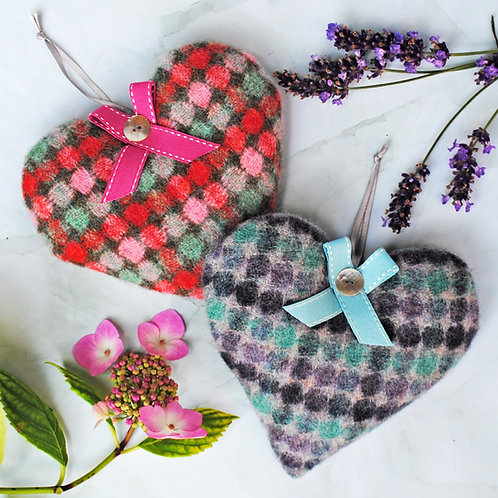 Lambswool Lavender Heart