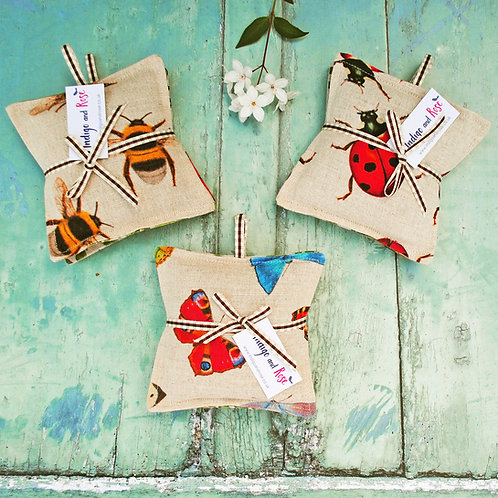 Set of 2 Insect Lavender Bags