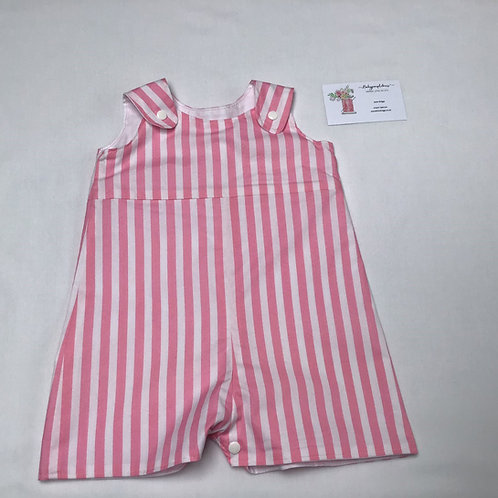 Baby Romper Pink Stripe