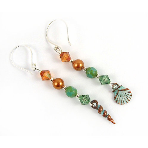 Mismatched Seaside Charm Earrings