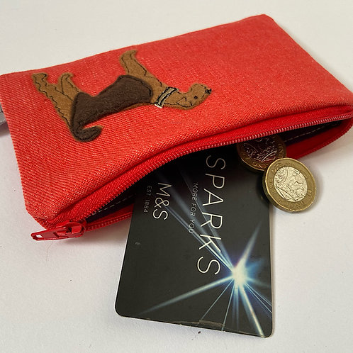 Monty the Airedale Card/Coin Purse