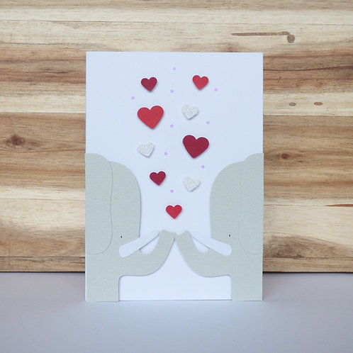 Two Elephants Valentine's Day Card