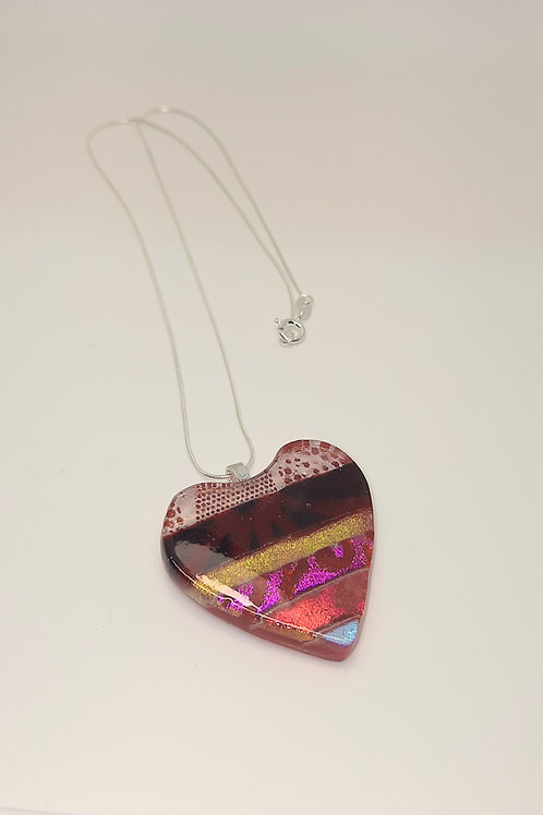 Large Red Heart Pendant