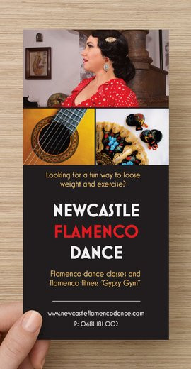 Newcastle Flamenco Dance Flyer