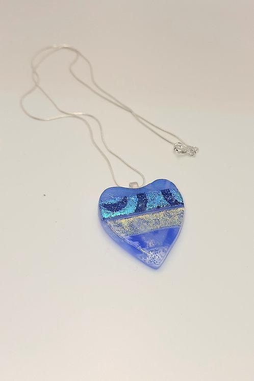 Medium blue heart pendant