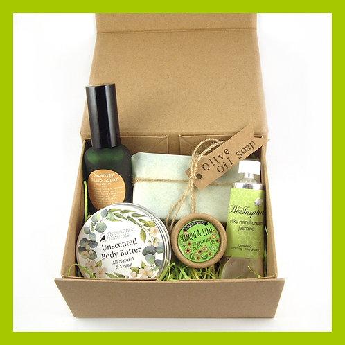 Handmade Organic Pamper Gift Box