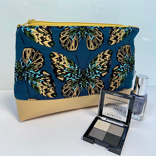 Teal and Metallic Butterfly Purse with Luxury Gift Box