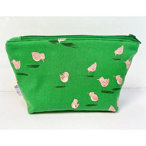 Emerald Green Chicks Cotton Small Make Up Purse