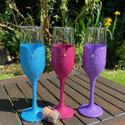 Glitter prosecco glass