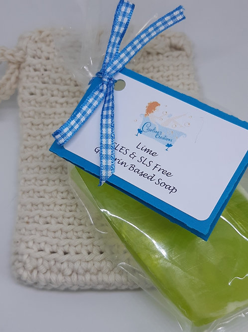 Handmade Soap & Soap Bag - Fruity