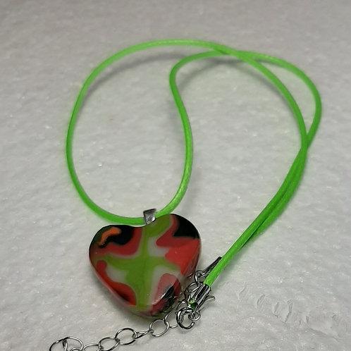 Heart shaped glass pendant