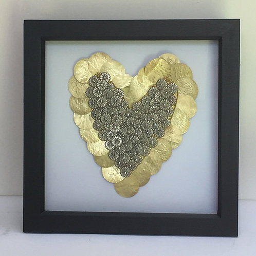 Gold Beaded Heart