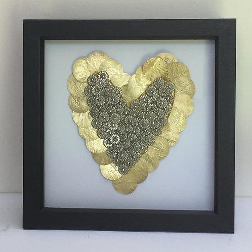 Gold Beaded Heart