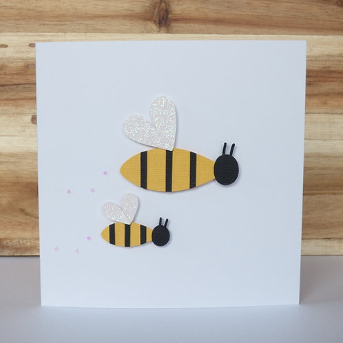 Queen Bee Mother's Day Handcrafted Greetings Card