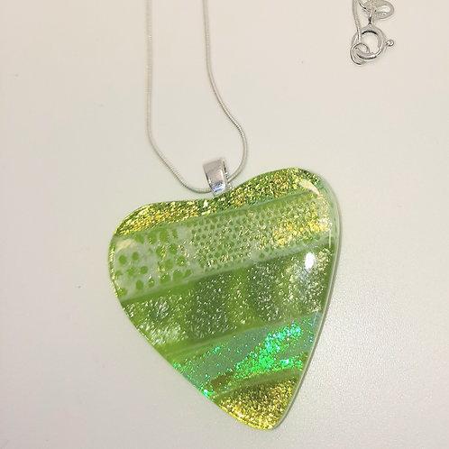 Medium Green Heart Pendant