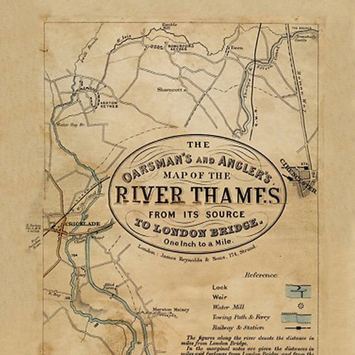Oarsman's and Anglers Map of the River Thames