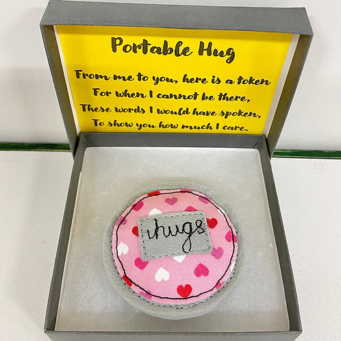 Pink Heart  Pocket / Portable Hug in Gift Box
