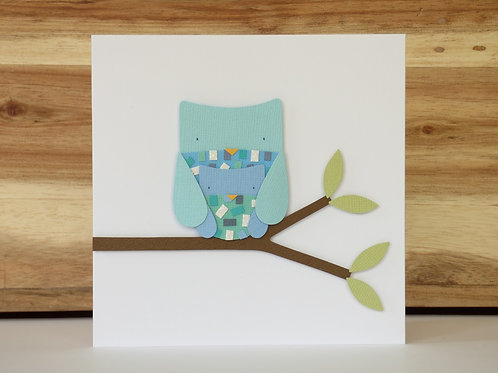 Owls Mother's Day Handcrafted Greetings Card