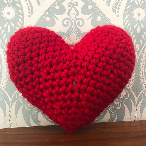 Large Crocheted Heart