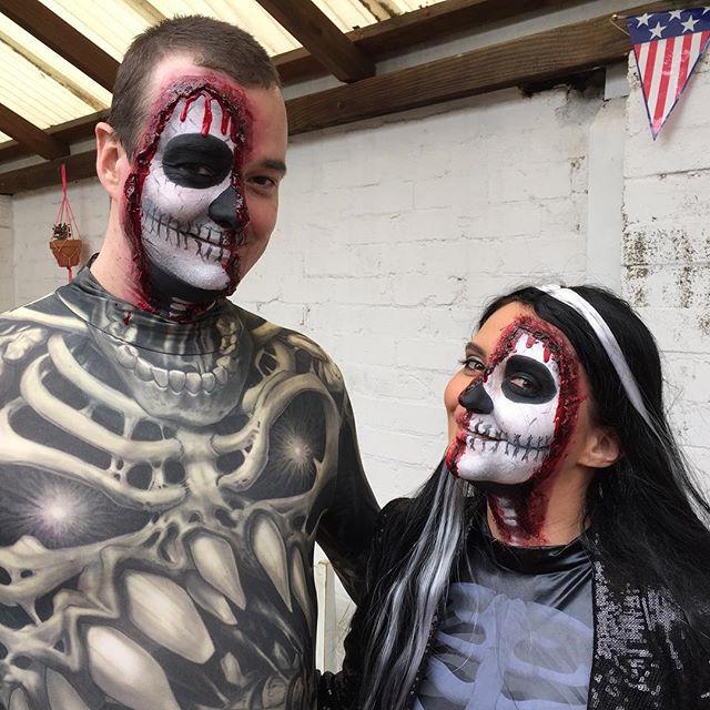 Half Skull Makeup sydney
