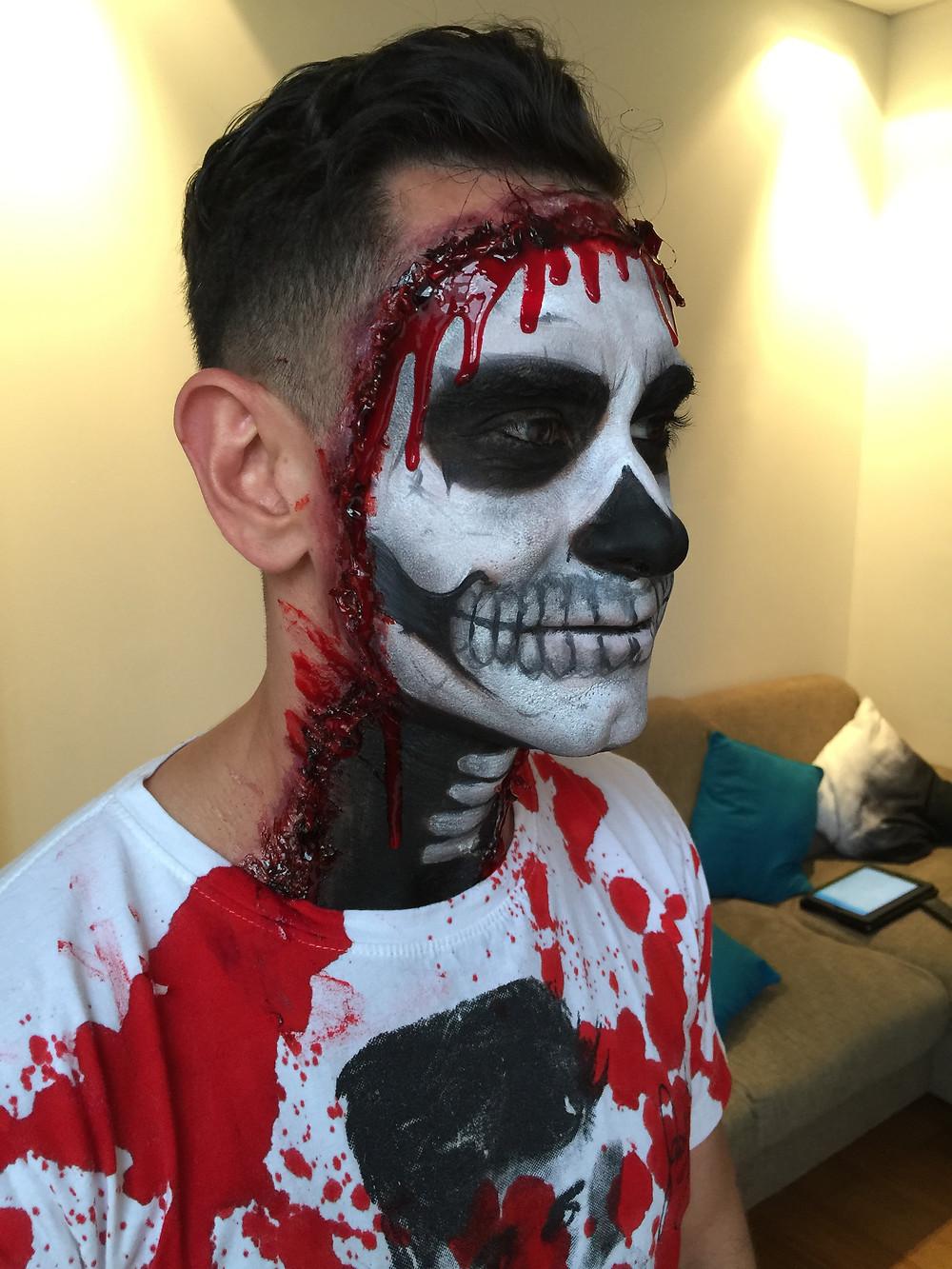 Full skull makeup