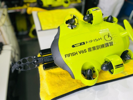 水中自航型ロボットカメラ(水中ドローン)の産業訓練講習を実施
