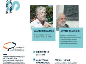 INTERNATIONAL SEMINAR SERIES Antoni Domènech, o Republicanismo Democrático e o Socialismo: uma pesqu