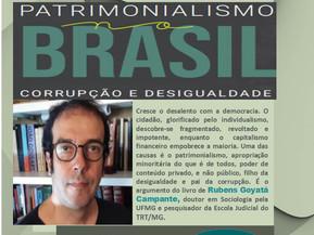 """Lançamento do livro """"Patrimonialismo no Brasil: corrupção e desigualdade"""""""