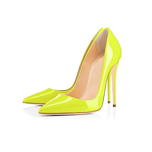 Shoes 10 12CM Heels Women Shoes Pumps Stiletto Neon Yellow Sexy Party