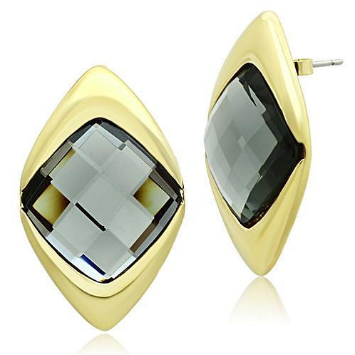 GL341 IP Gold(Ion Plating) Brass Earrings with