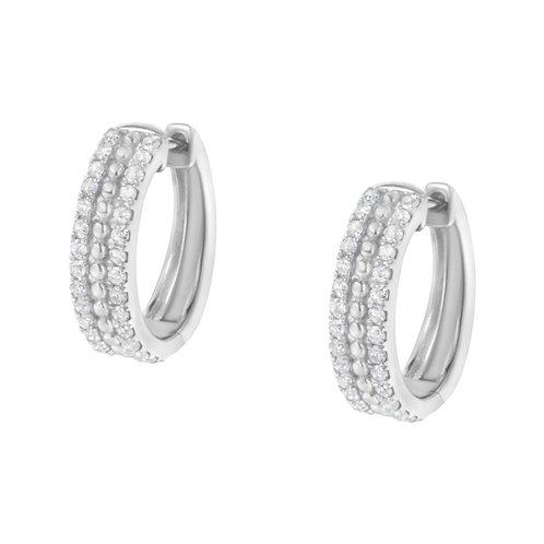 Sterling-Silver 1/2ct TDW Diamond Hoop Earring