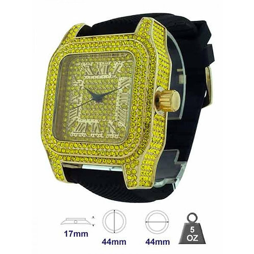 Bling bling iced out hip hop, jelly band mens