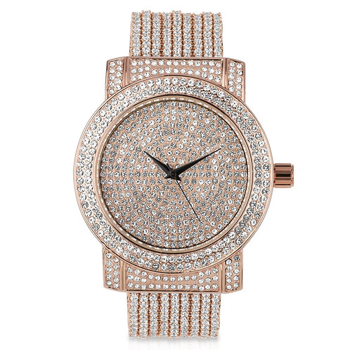 CZ WATCH BAND WITH FULLY ICED OUT DIAL-5110275