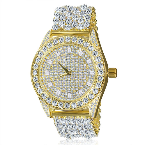 Luxury Ice Custom CZ Band Watch 5110162