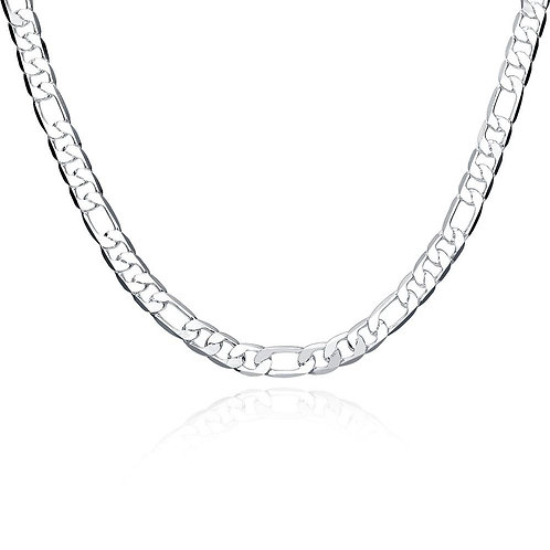 Father's Day Modern Cuban Figaro Link Chain Necklace