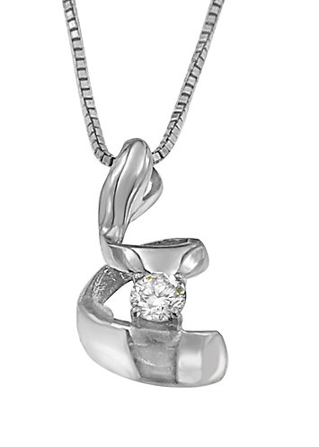 Sterling Silver 1/10 ct TDW Round Cut Diamond